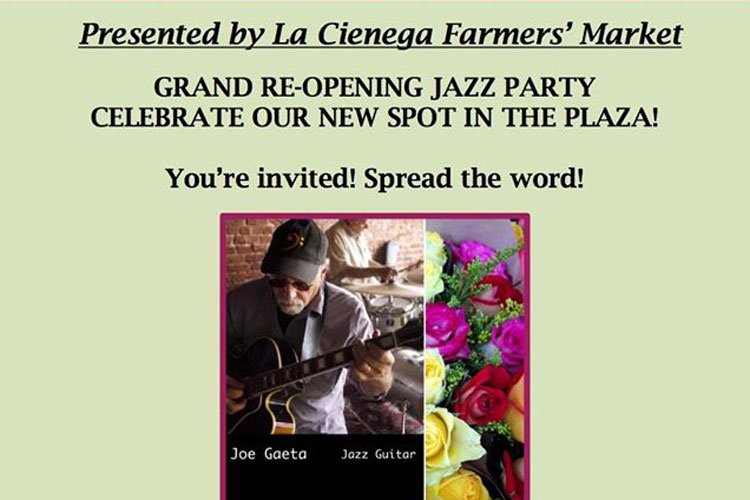 La Cienega Farmers Market Moved!!!!