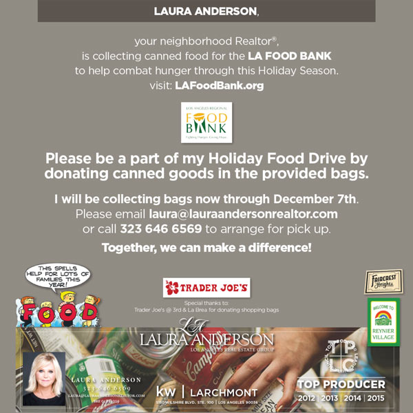 Food Drive with Laura Anderson