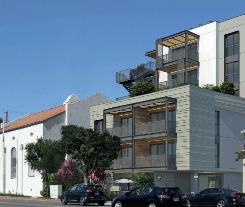 What's being built next to the old Methodist Church on Fairfax and Fountain?